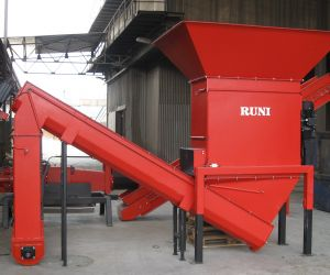 RUNI Screw Compactor for Dewatering Various Materials