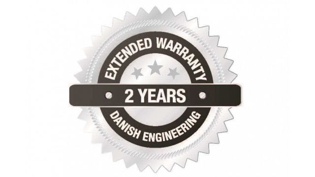 RUNI Warranty Logo - Two Years Warranty on Screw Compactor