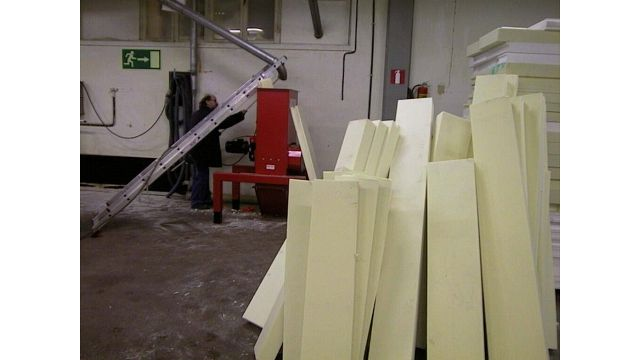 PUR Foam Plates Before Compacting