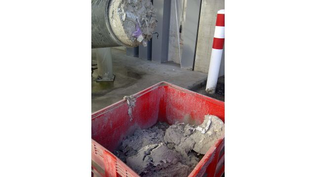 Industrial Dust Collected in Container after Compaction