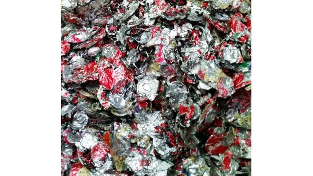 Compacted Cans Collected After RUNI Screw Compactor