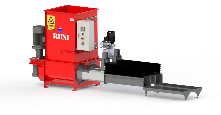 SK200Twin RUNI Screw Compactor for Compacting EPS